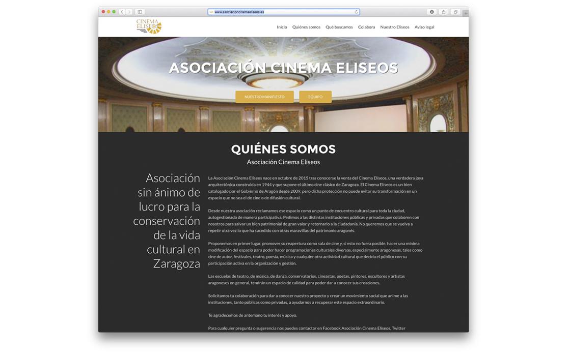 Diseño de web corporativa para la Asociación Cinema Eliseos de Zaragoza