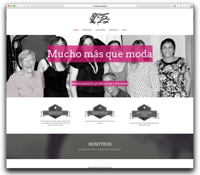 Diseño web para F&Z más que moda en Zaragoza