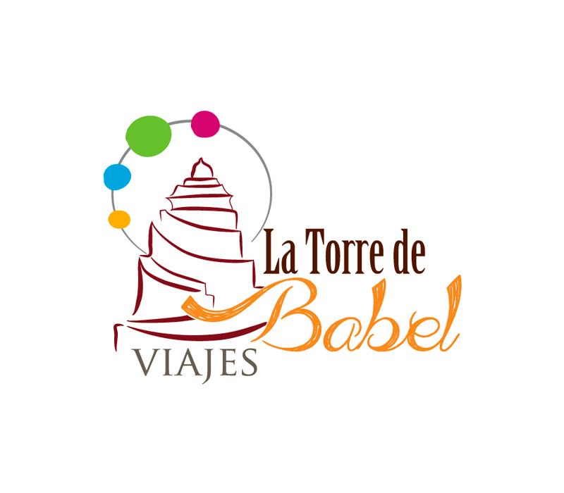 Diseño de logotipo para Viajes La Torre de Babel - Lion Comunicación en Zaragoza