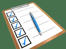 List of tasks completed