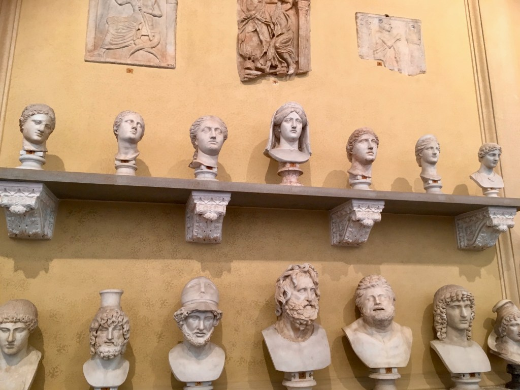 Busts in Vatican Museum, Rome