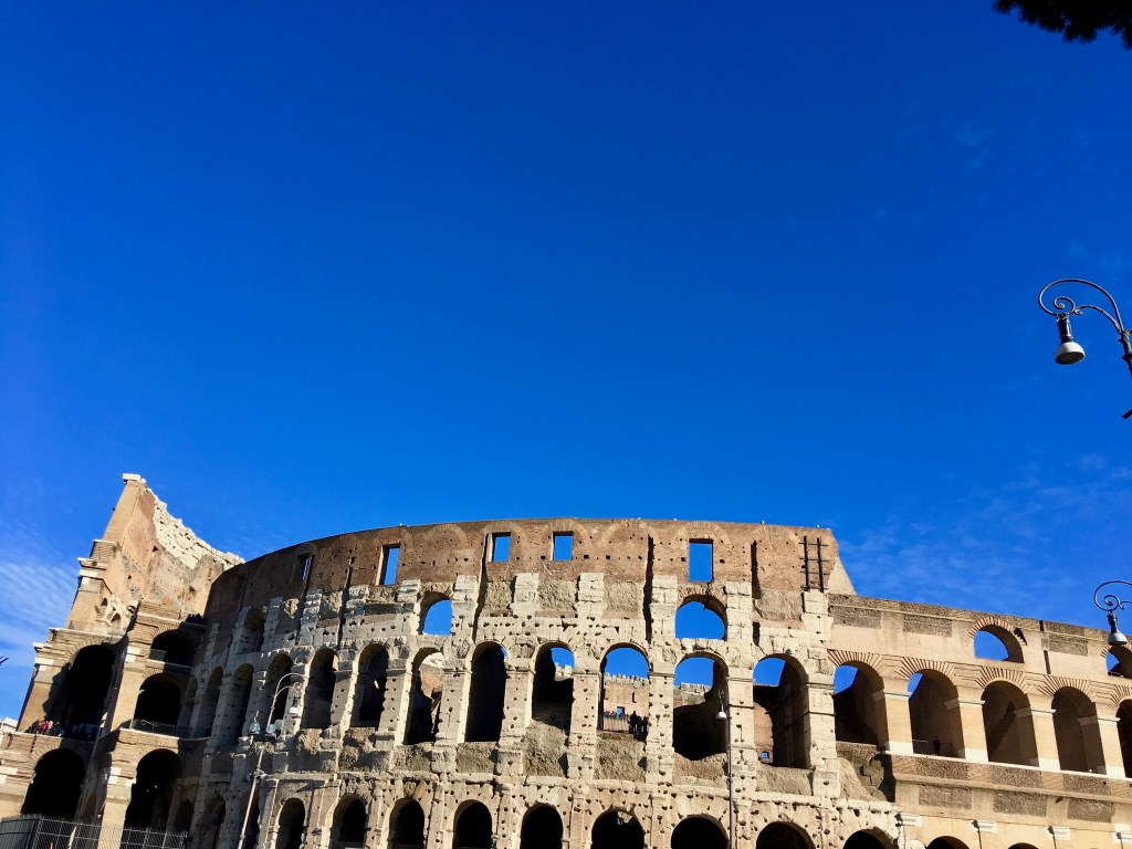 Colosseum with sky