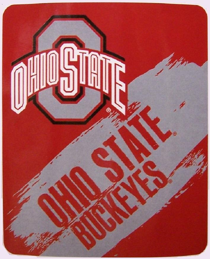 Blanket Fleece Throw NCAA Ohio State Buckeyes NEW 50x60