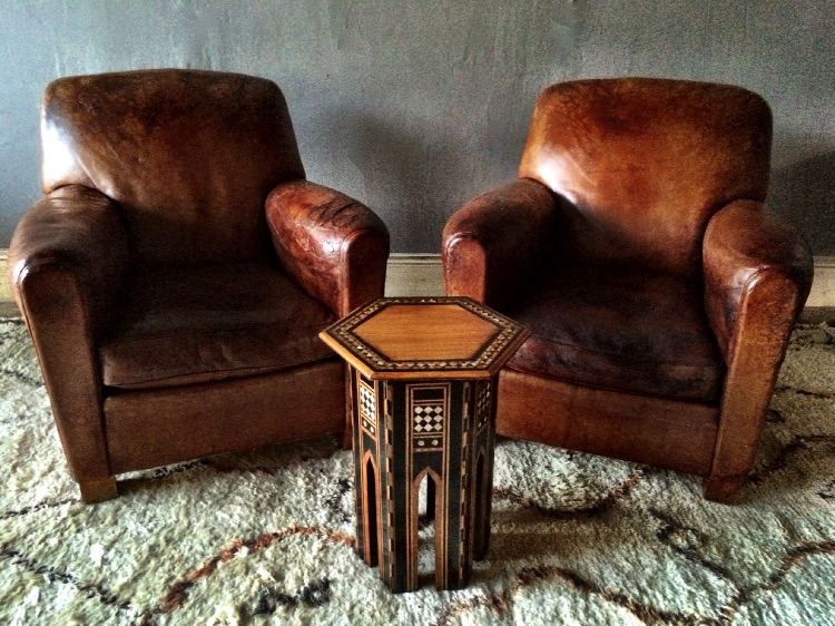 leather cigar chair oak dining room set with 6 chairs pair of vintage french club armchairs