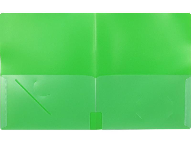 4Pocket Folder Green Plastic Folder