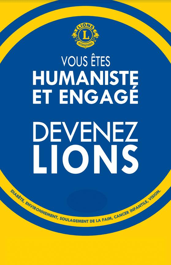 affiche lions fond carte de visite