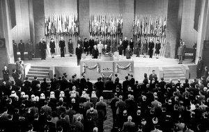 Lions Club International bei der Unterzeichnung der Charter der Vereinten Nationen im Jahr 1945