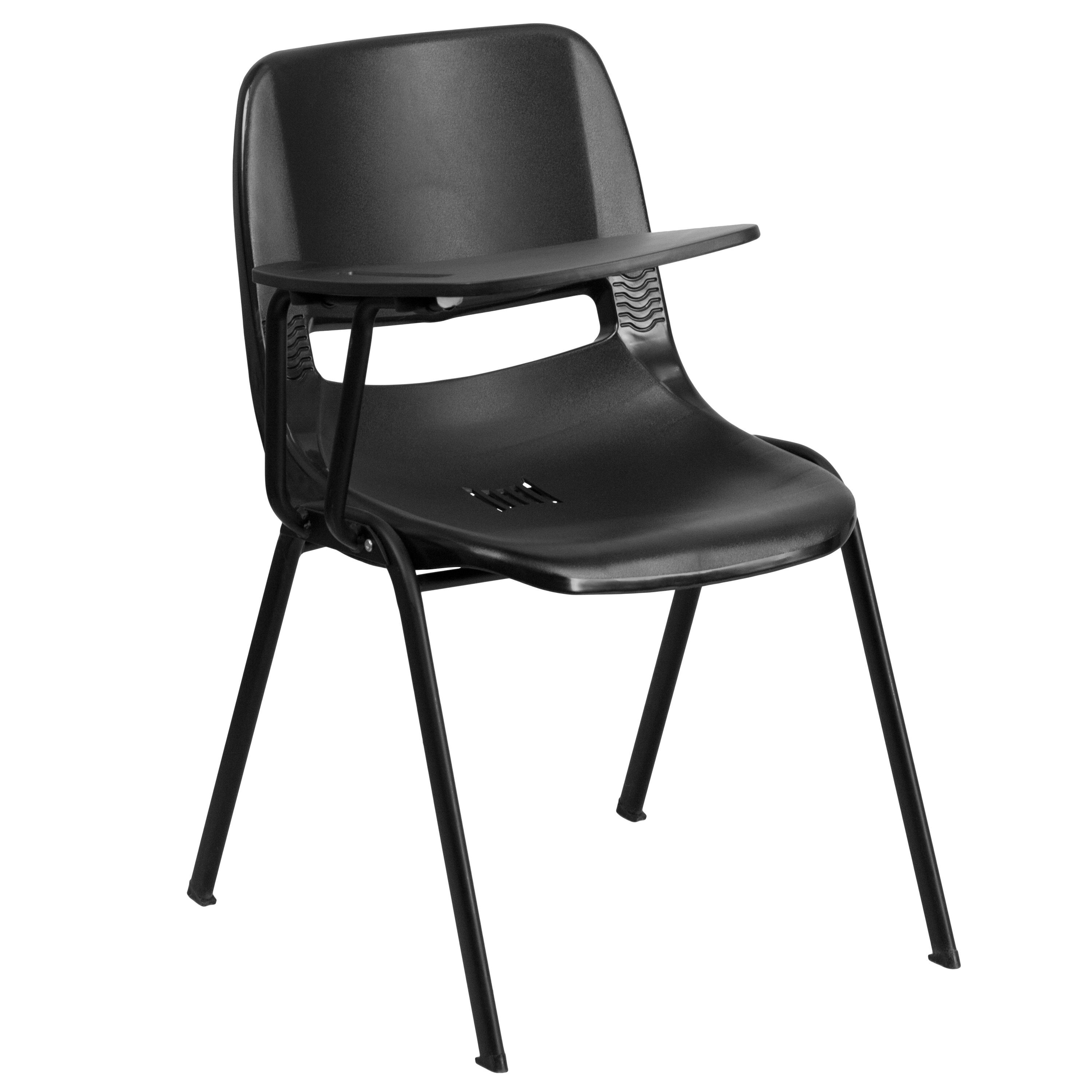 chair with desk arm brown accent chairs living room flash furniture rut eo1 bk rtab gg black ergonomic shell