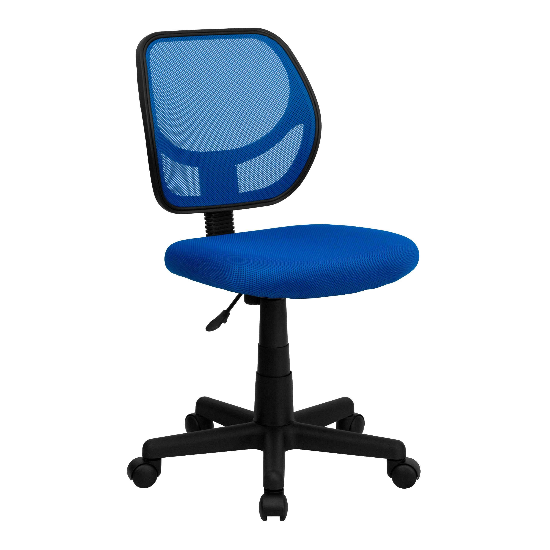 computer chair walmart folding with armrest flash furniture wa 3074 bl gg blue mesh