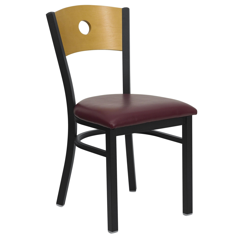 black metal and wood dining chairs chair 1 2 flash furniture xu dg 6f2b cir burv gg circle back