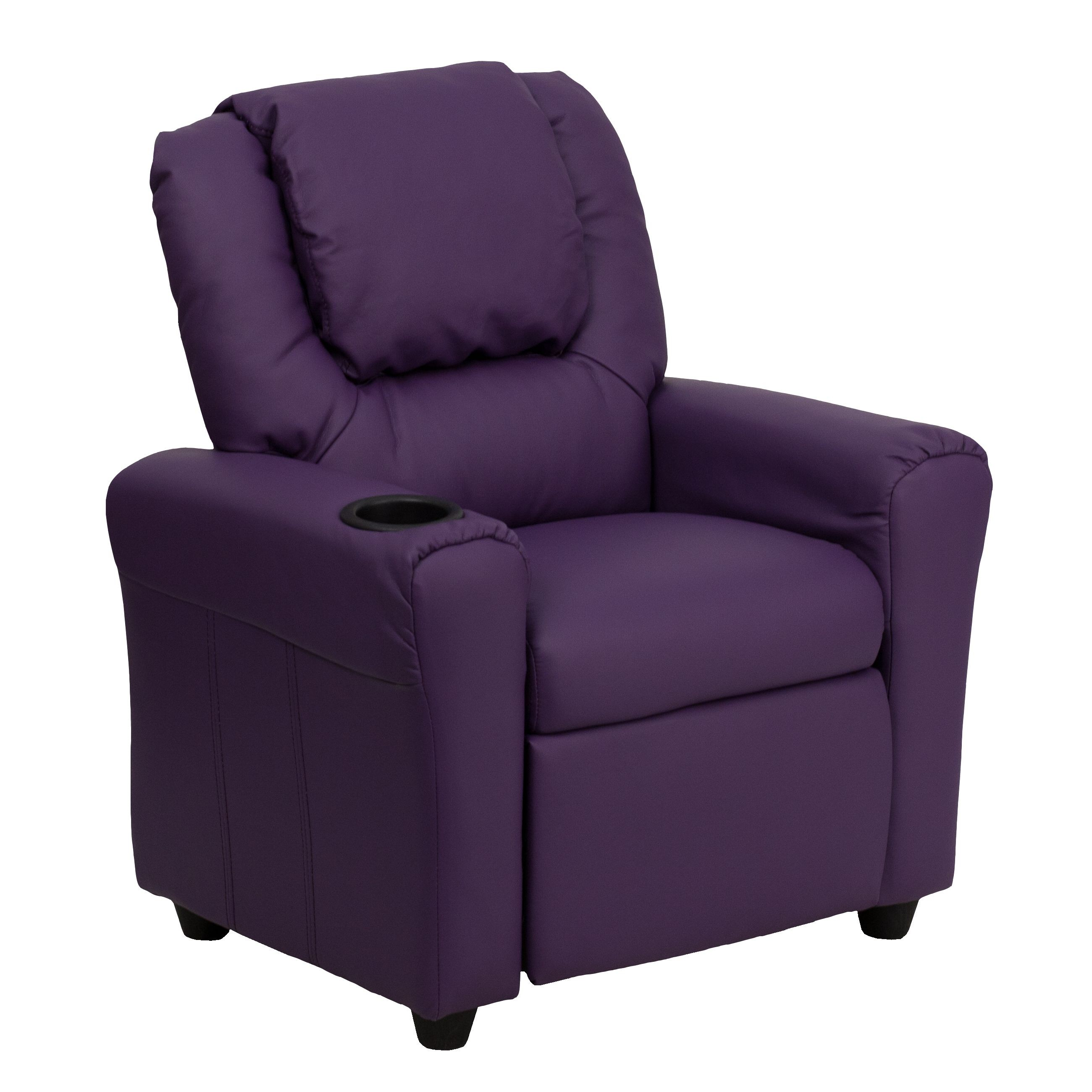 kid recliner chair covers for bed bugs flash furniture dg ult pur gg contemporary purple