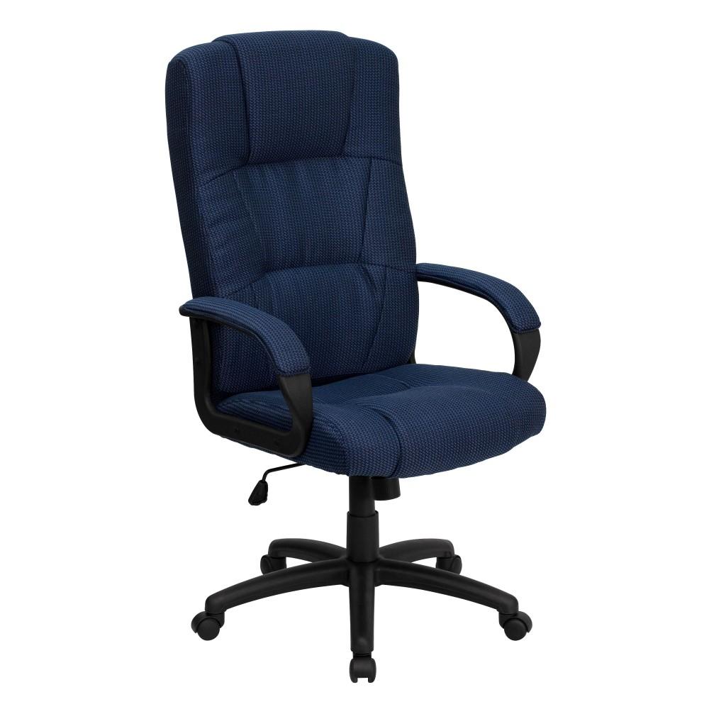 Flash Furniture BT9022BLGG High Back Executive Fabric