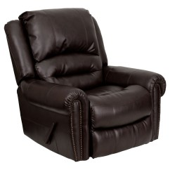 Brown Leather Rocking Chair High Top Patio Chairs Flash Furniture Men Dsc01056 Brn Gg Plush
