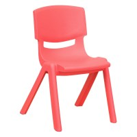 Flash Furniture YU-YCX-001-RED-GG Red Plastic Stackable ...