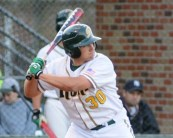 Sophomore Josh Cryer heads up a deep group behind the plate