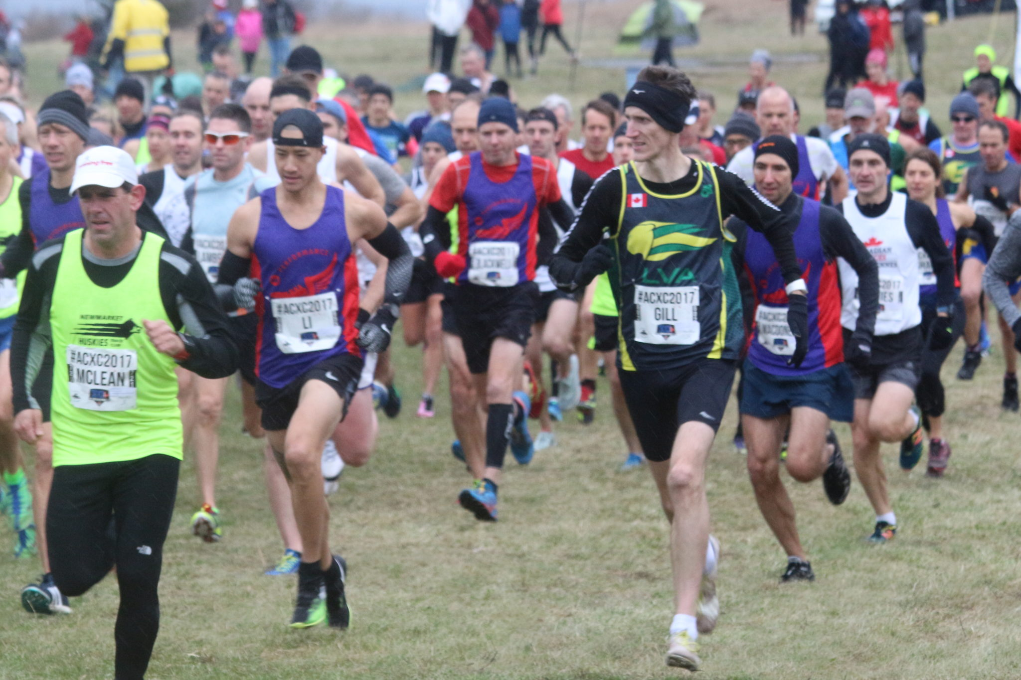 Leaders on the first of four 2KM laps.