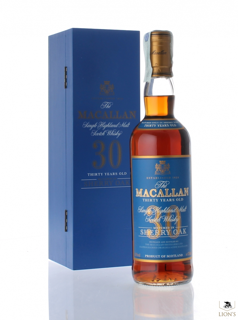 Macallan 30 years old blue box one of the best types of Scotch Whisky