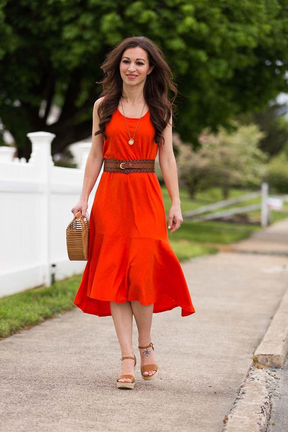 Orange Jersey Dress  Lipgloss  Labels
