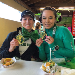 Run Oregon blogger Marilyn Tycer (in green) posted this pic from the 2015 LuckyThon on her blog Lipgloss & Spandex.