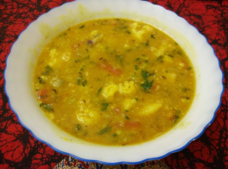 Vegetable Masala Masoor Dal