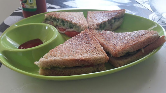Bombay Vegetable Cheese Grilled Sandwich
