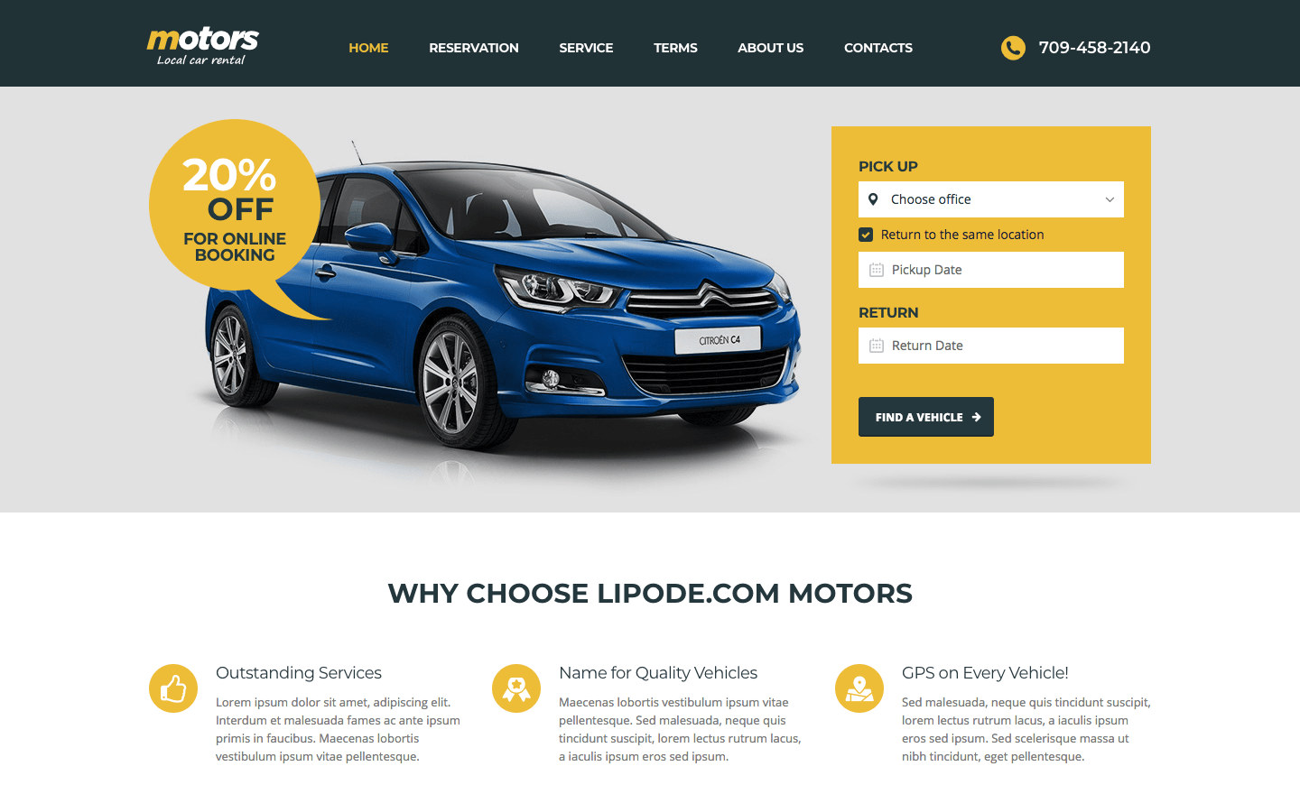 Motors ­- Automotive, Car Dealership, Car Rental, Vehicle, Bikes, Classified Listing WordPress Theme.png