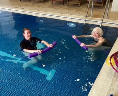 Attendees found time to learn and do pool exercises for Lipoedema
