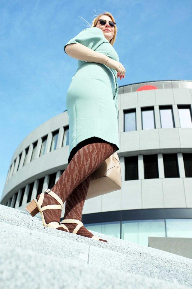 lipoedem mode outfit animal braun
