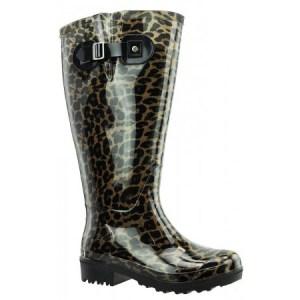 lipoedem mode weitschaft gummistifel leoparden muster