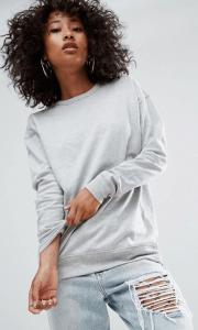 Sweatshirt im Boyfriend-Stil