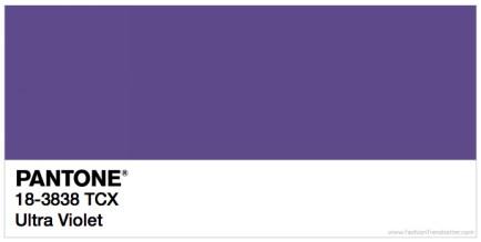 Pantone 18-3838 Ultra Violet Trendfarben Frühling / Sommer 2018