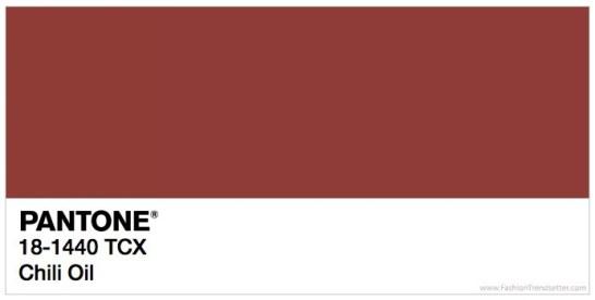 Pantone 18-1440 Chili Oil Trendfarben Frühling / Sommer 2018