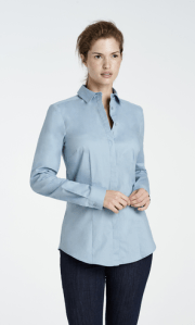 Hellblaue Stretch-Bluse