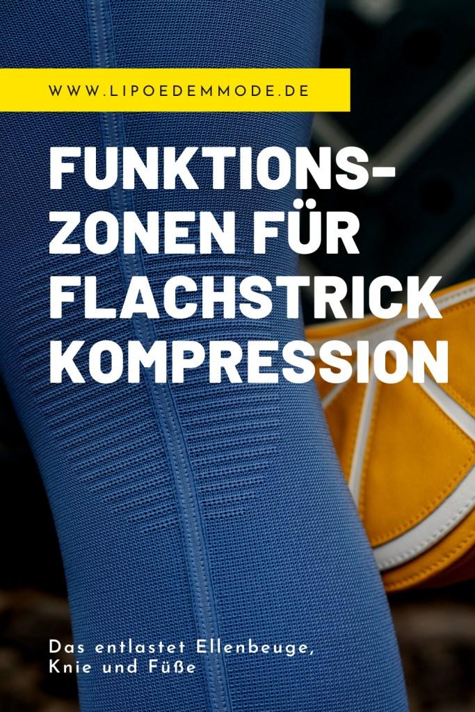 lipödem mode funktionszonen flachstrick kompression kniekehle ellenbeuge