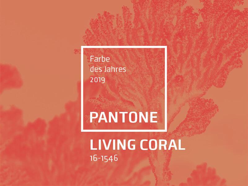 Living Coral Pantone Trendfarbe des Jahres 2019