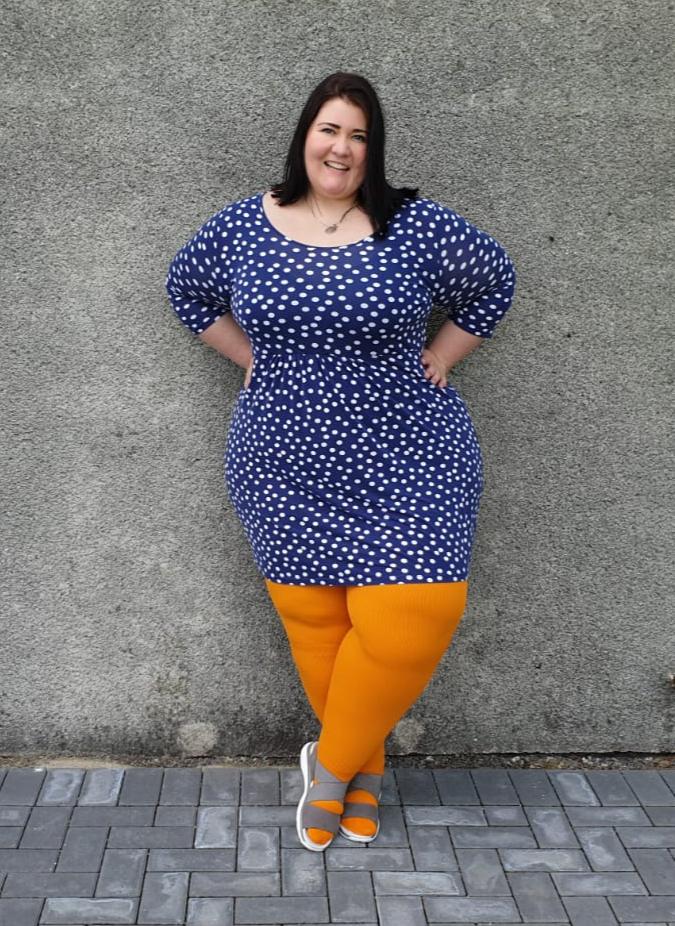 lipödem mode lippa britta Bauerfeind Farben 2019 outfit orange blau