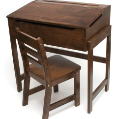 Childs Desk And Chair High End Dining Chairs Child S Slanted Top Walnut Finish Lipper