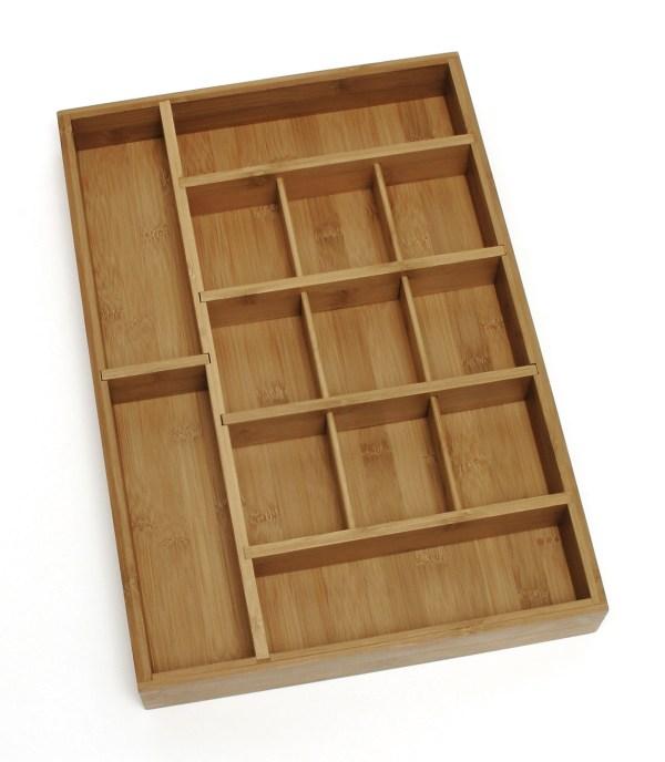 Adjustable Bamboo Drawer Organizer