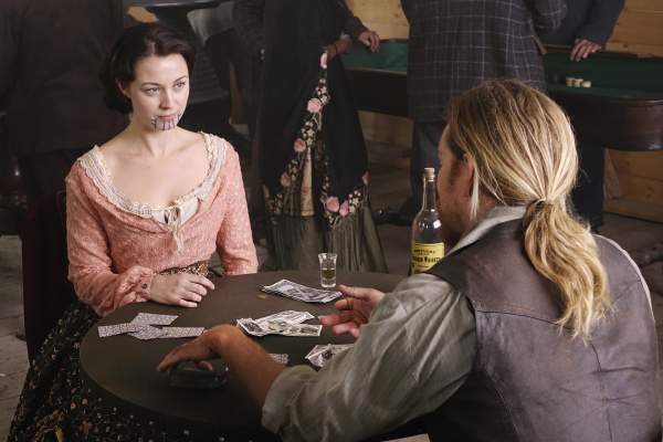 "Hell on Wheels ""Life's a Mystery"" Sid plays poker with Eva"