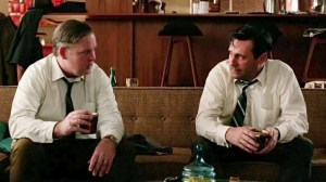 Mad Men, The Monolith--Don Draper and Freddy Rumsen on the couch