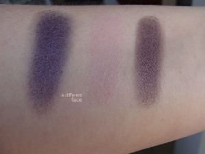 Burberry Eyeshadow Swatches - Midnight Plum, Tea Rose, Mulberry