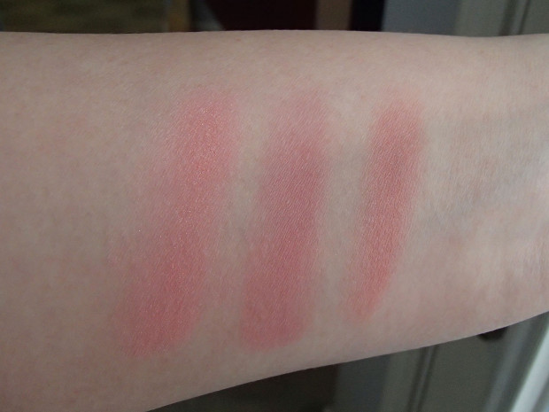 Hourglass Ambient Lighting Blush Diffused Heat Comparison Swatches