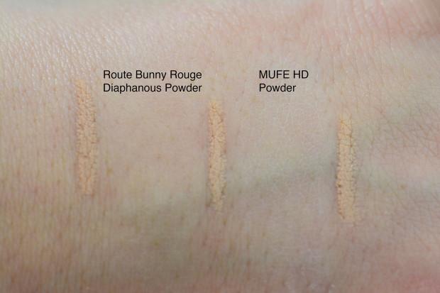 Rouge Bunny Rouge Diaphanous Powder vs MUFE HD Powder