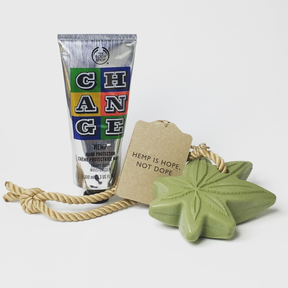 The Body Shop Hemp Hand Protector & Soap on a Rope