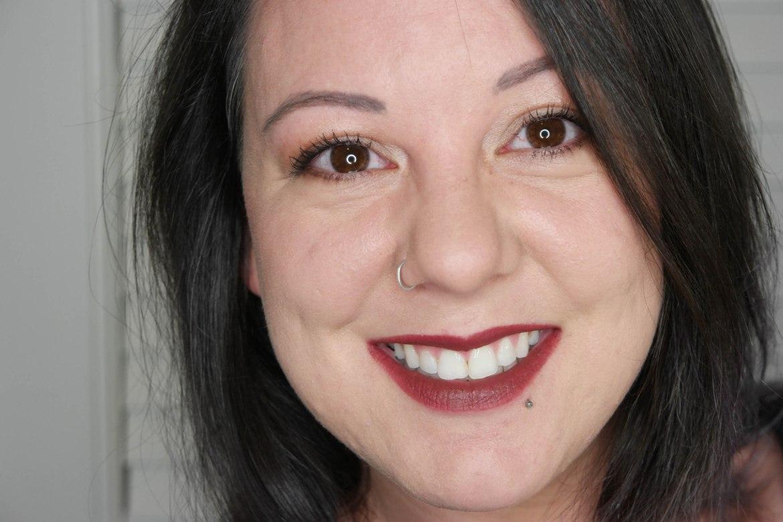 GrandeLips HydraPlump Semi-Matte Liquid Lipstick Smoked Sherry Swatch