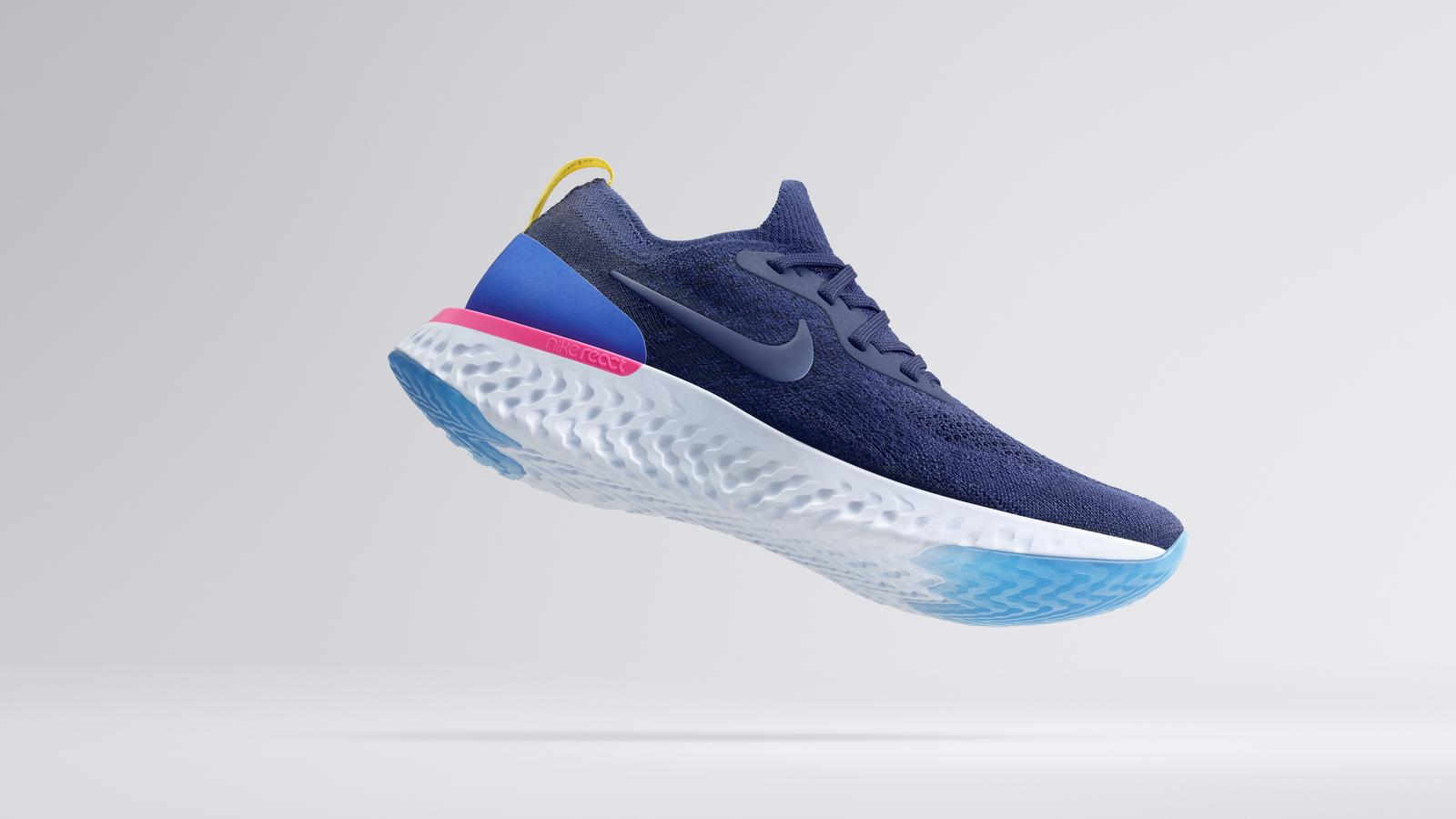 huge selection of 76913 b456f The New Nike Epic React Flyknit Integrates Its Proprietary Nike React Foam