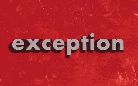 EXCEPCIÓN