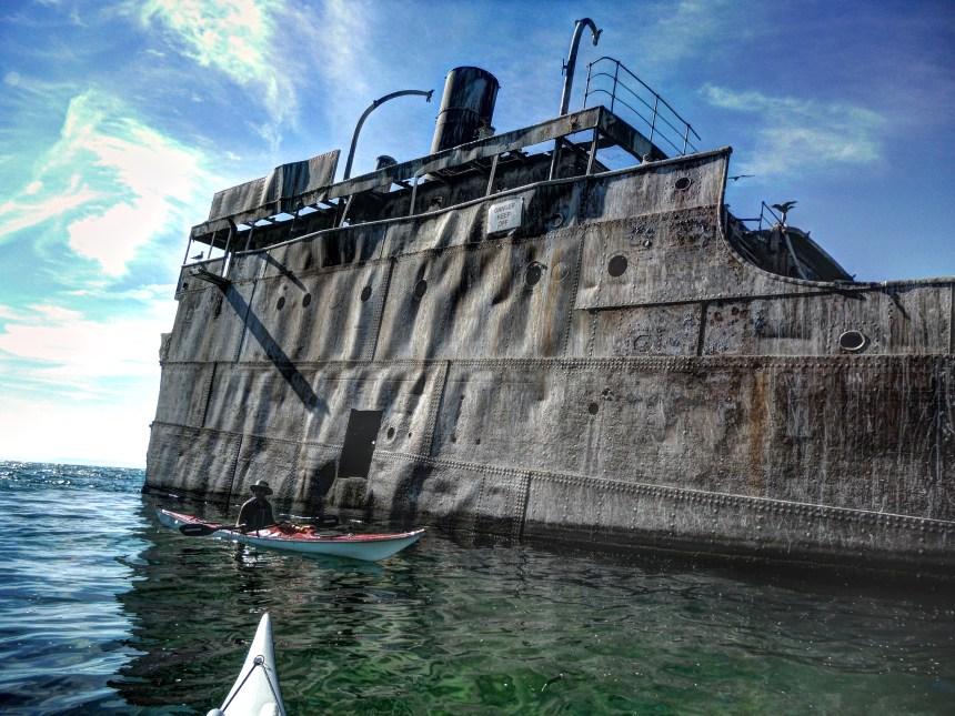 The wreck of the Franciso Morazan has been a South Manitou landmark since 1960.