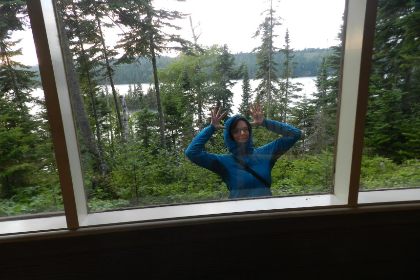 One bold moose came right up to our cabin window.
