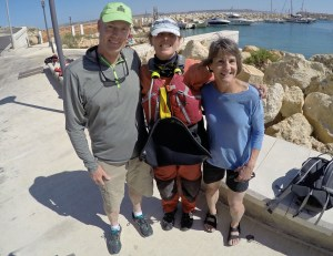 Mary and I pose with our Irish-born guide Sandra from Gozo Adventures.